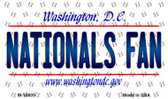 Nationals Fan Washington DC State License Plate Magnet M-10805