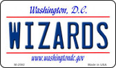 Wizards Washington DC State License Plate Magnet M-2592