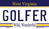 Golfer West Virginia State License Plate Magnet M-6512