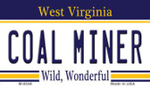 Coal Miner West Virginia State License Plate Magnet M-6546