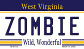 Zombie West Virginia State License Plate Magnet M-6754