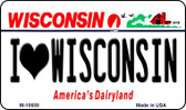 I Love Wisconsin State License Plate Novelty Magnet M-10609