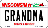Grandma Wisconsin State License Plate Novelty Magnet M-10635