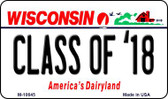 Class of '18 Wisconsin State License Plate Novelty Magnet M-10645
