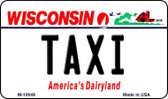 Taxi Wisconsin State License Plate Novelty Magnet M-10649