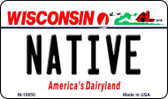 Native Wisconsin State License Plate Novelty Magnet M-10650
