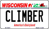 Climber Wisconsin State License Plate Novelty Magnet M-10657