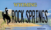 Rock Spring Wyoming State License Plate Magnet M-10523