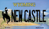 New Castle Wyoming State License Plate Magnet M-10525