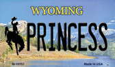 Princess Wyoming State License Plate Magnet M-10553