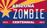 Zombie Arizona Centennial State License Plate Magnet M-6831