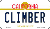Climber California State License Plate Magnet M-6850
