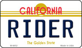 Rider California State License Plate Magnet M-6852