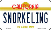 Snorkeling California State License Plate Magnet M-6853