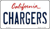 Chargers California State License Plate Magnet M-2035
