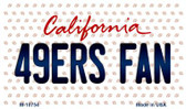 49ers Fan California State License Plate Magnet M-10754