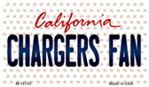 Chargers Fan California State License Plate Magnet M-10755
