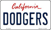 Dodgers California State License Plate Magnet M-2095