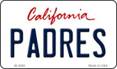 Padres California State License Plate Magnet M-2099