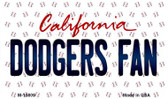 Dodgers Fan California State License Plate Magnet M-10809