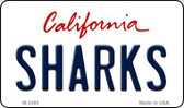 Sharks California State License Plate Magnet M-2280