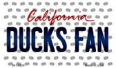 Ducks Fan California State License Plate Magnet M-10826