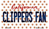 Clippers Fan California State License Plate Magnet M-10859
