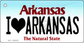 I Love Arkansas State License Plate Key Chain KC-10035