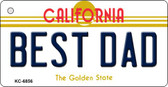 Best Dad California State License Plate Key Chain KC-6856