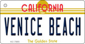 Venice Beach California State License Plate Key Chain KC-7895