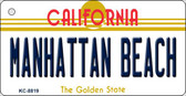 Manhattan Beach California State License Plate Key Chain KC-8819
