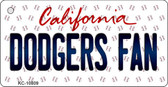 Dodgers Fan California State License Plate Key Chain KC-10809