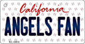 Angels Fan California State License Plate Key Chain KC-10810