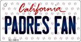 Padres Fan California State License Plate Key Chain KC-10813
