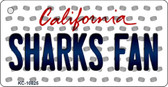 Sharks Fan California State License Plate Key Chain KC-10825
