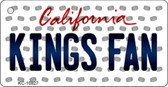 Kings Fan California State License Plate Key Chain KC-10827
