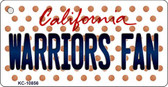 Warriors Fan California State License Plate Key Chain KC-10856