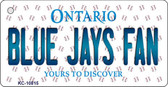 Blue Jays Fan Ontario State License Plate Key Chain KC-10815