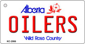 Oilers Alberta State License Plate Key Chain KC-2066