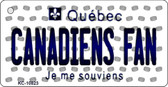 Canadiens Fan Quebec State License Plate Key Chain KC-10823