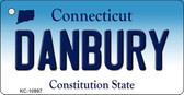 Danbury Connecticut State License Plate Key Chain KC-10897