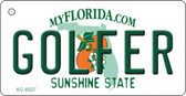 Golfer Florida State License Plate Key Chain KC-6027