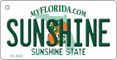 Sunshine Florida State License Plate Key Chain KC-6033