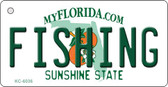 Fishing Florida State License Plate Key Chain KC-6036