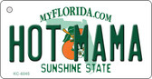 Hot Mama Florida State License Plate Key Chain KC-6045
