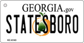 Statesboro Georgia State License Plate Novelty Key Chain KC-6143