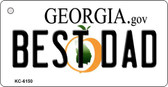 Best Dad Georgia State License Plate Novelty Key Chain KC-6150