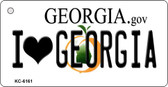 I Love Georgia State License Plate Novelty Key Chain KC-6161