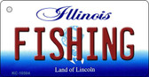 Fishing Illinois State License Plate Key Chain KC-10304