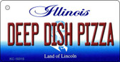 Deep Dish Pizza Illinois State License Plate Key Chain KC-10315